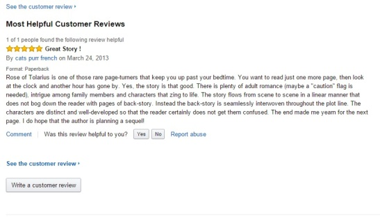 rose of tolarius review